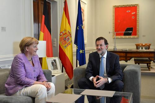 El presidente recibe a la canciller alemana