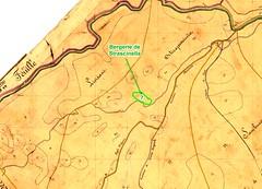 Extrait du Cadastre Napoléonien pour le secteur de la bergerie de Strascinella du Haut-Cavu
