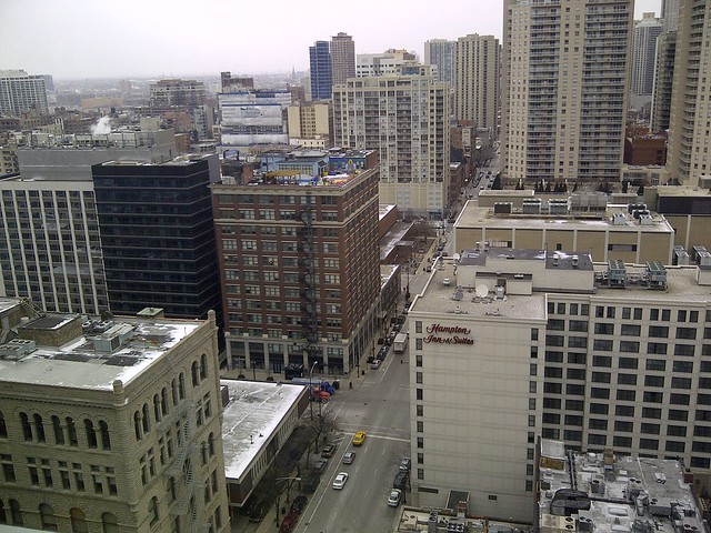 The View from Google's Chicago Office, 17th Floor
