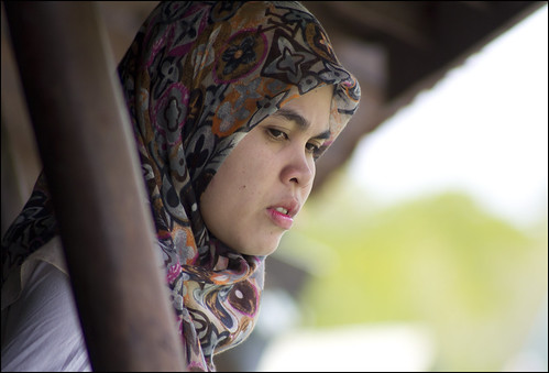 Muslim girl at Bang Rong, Phuket