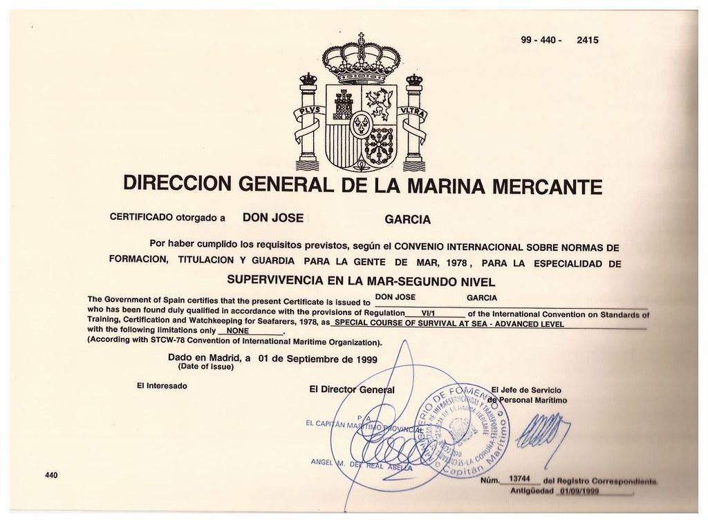 Stcw Certificates Deck