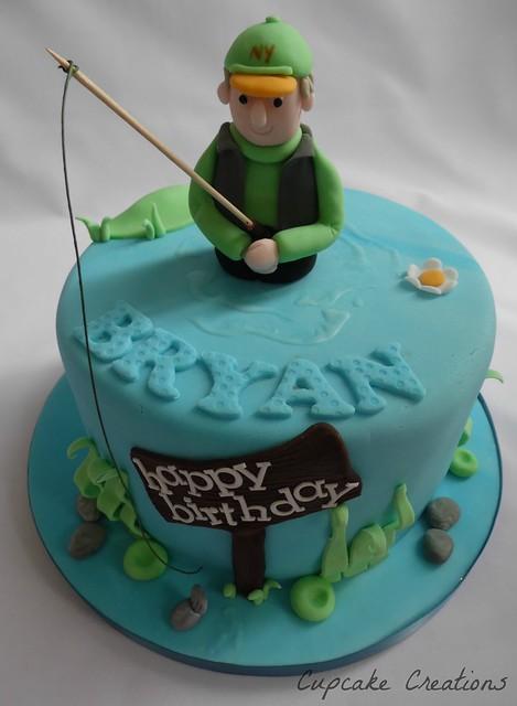 Fishing theme birthday cake flickr photo sharing for Fishing themed birthday cakes