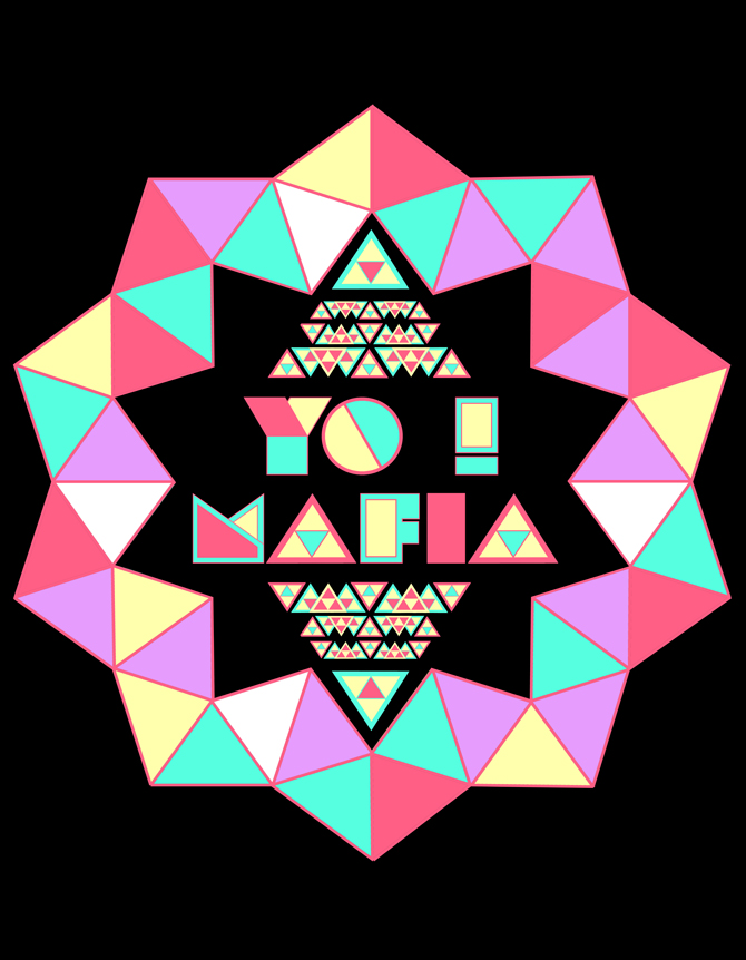 YO MAFIA font / medallion design