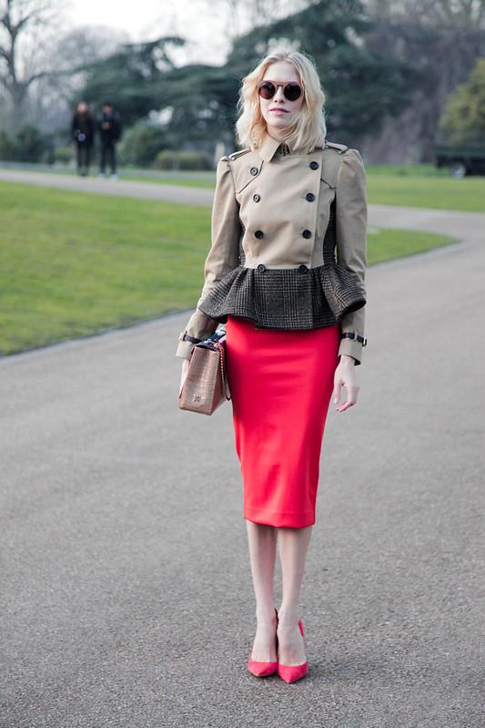 LFW Street Style - Elena Perminova