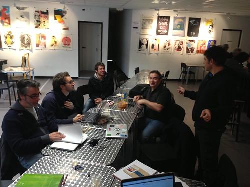 Réunion des fondateurs du labfab au jardin numérique