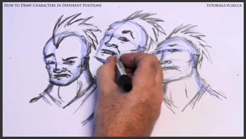 learn how to draw characters in different positions 022
