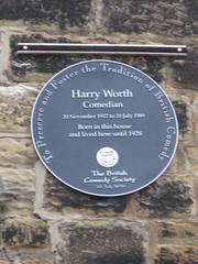 Photo of Harry Worth black plaque