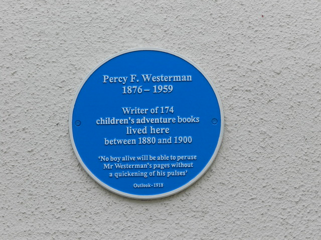 Photo of Percy F. Westerman blue plaque