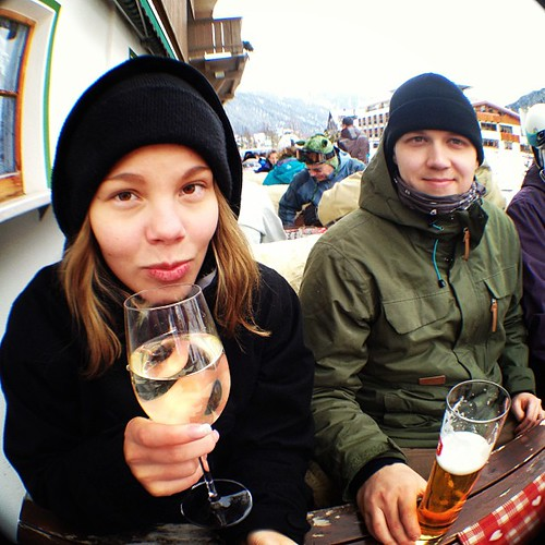 Afterski! #best #day #ever #powder #snow #whitewine #afterski #alps #wiii