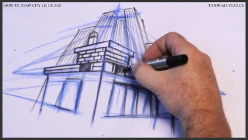 learn how to draw city buildings 021