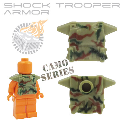 Shock Trooper Armor - Olive Green (camo print)