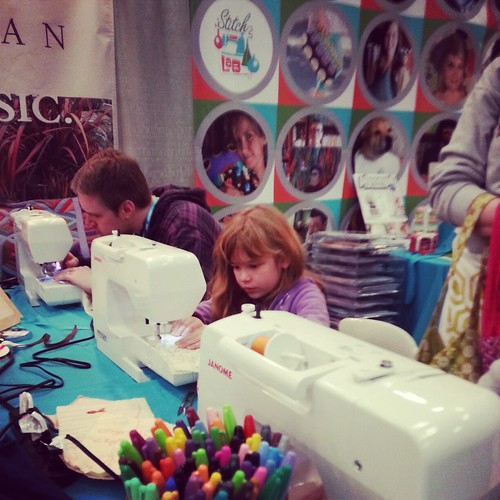 Youngest FM Quilter in Stitchlab's booth