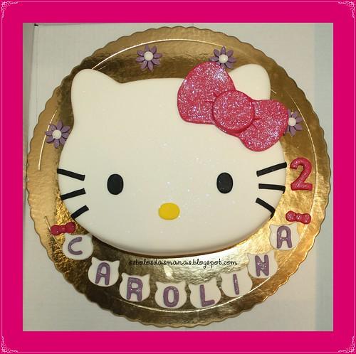 Bolo rosto Hello Kitty Laço rosa 14 by Osbolosdasmanas