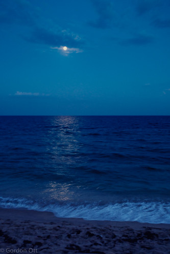 beach water rising fullmoon shore moonlight atlanticocean