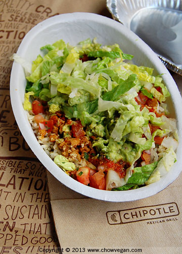 Sofritas Burrito Bowl From Chipotle