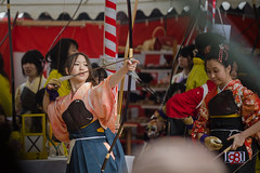 Archery Exhibition Contest at Sanjusangen-do Temple