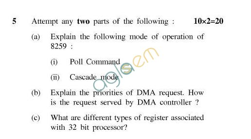 UPTU B.Tech Question Papers - TEE-404-Microprocessor