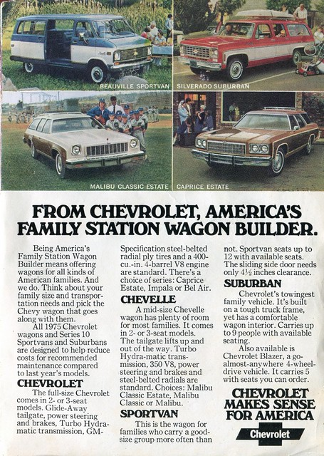 1975 Chevrolet Wagon and Van Advertising - Readers Digest March 1975