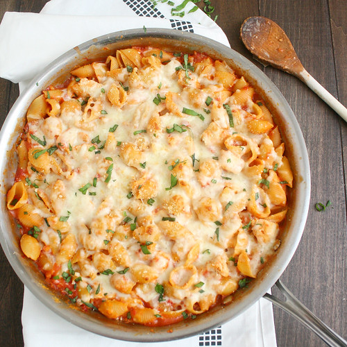 Pasta with chicken parmesan recipes