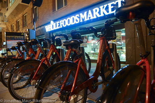 Bikeshare station at Whole Foods