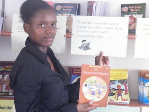 Mwaka chooses her book