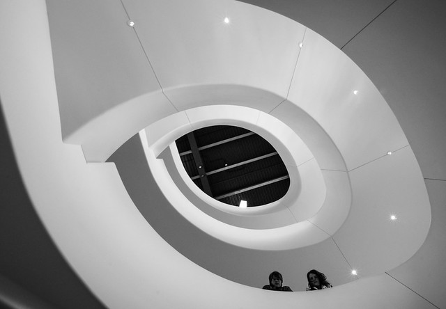 Spiral, Stairway, Monochrome, B&W, Eye, Epic, Verona, Wisconsin