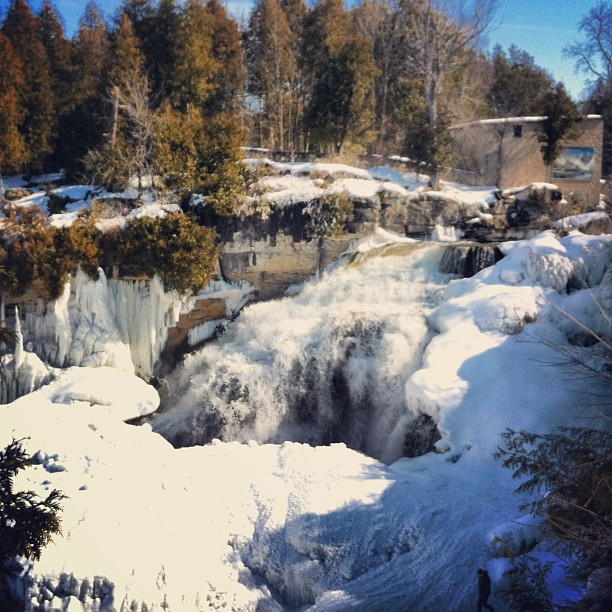 Inglis Falls in the winter
