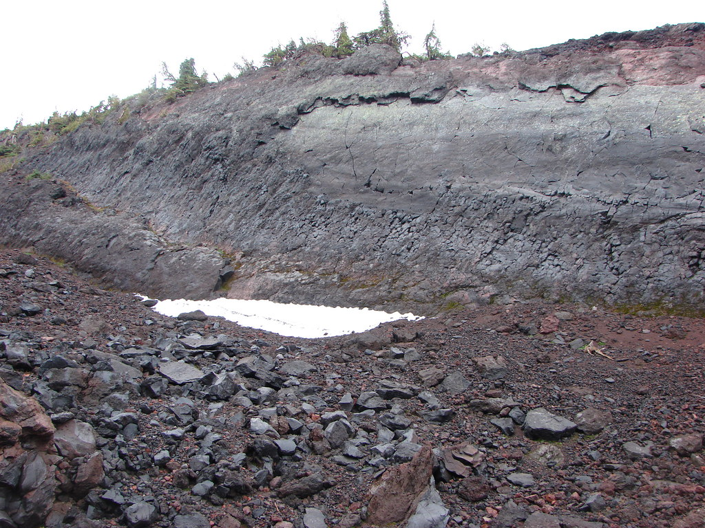 Snow patch in the Jerry Lava Flow