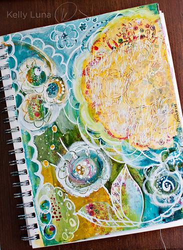 ArtJournal-doodle paint flowers