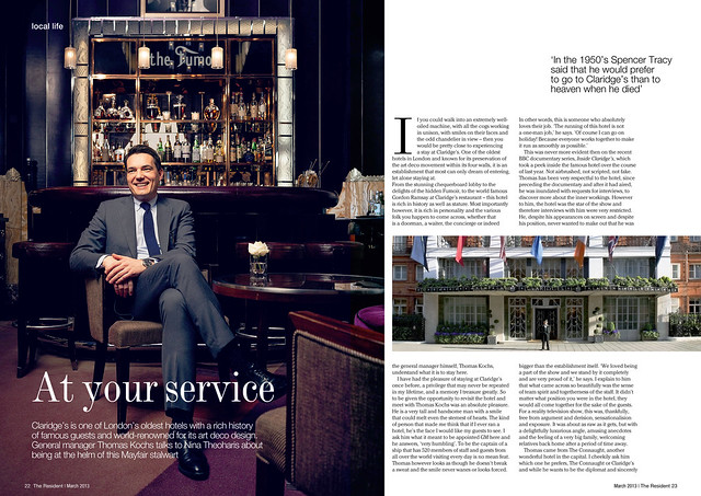 Thomas Koch photographed for The Mayfair Resident