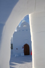 arch, winter, white, ice hotel, ice, architecture,