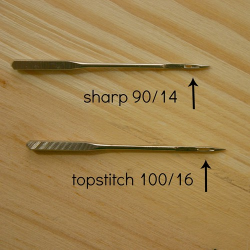 Sharp vs Topstich Needle