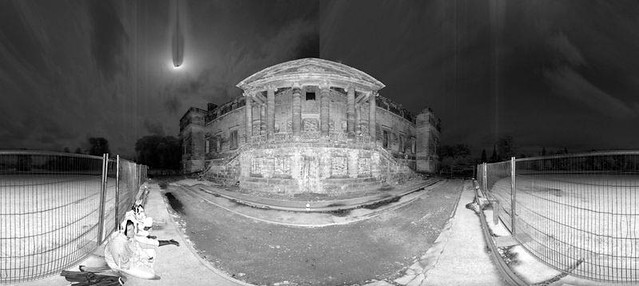 Panoramic image from laser scan data