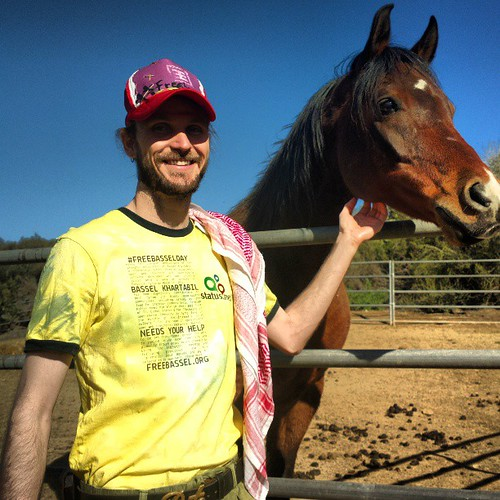 Celebrating #FreeBasselDay with my new equine friend and advocating for @freebassel #FREEBASSEL Thank you to @globsterlitter for the T-design @fabricatorz