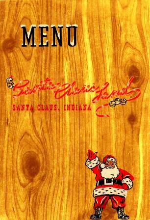 Santa Claus Land menu