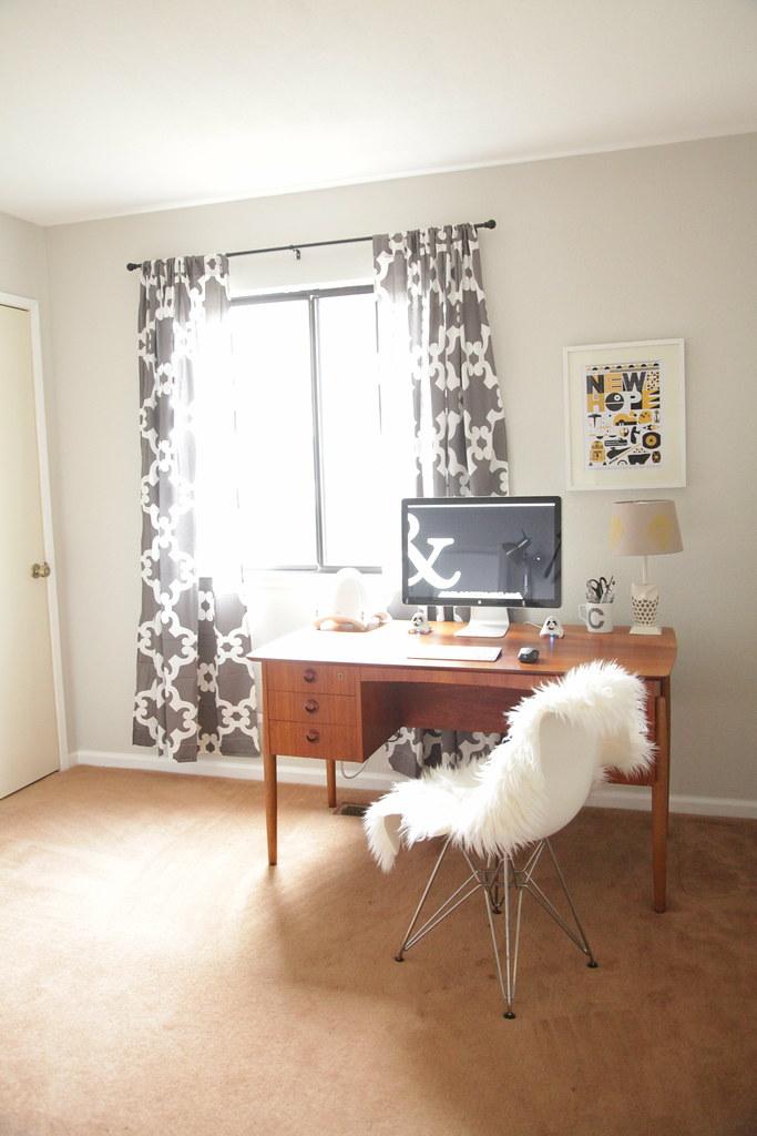 My Mid-Century Modern Nerdy Home Office #thelovelygeek