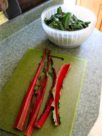 Swiss Chard Leaves and Stems