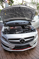 wheel(0.0), rim(0.0), automobile(1.0), automotive exterior(1.0), sport utility vehicle(1.0), vehicle(1.0), automotive design(1.0), mercedes-benz(1.0), mercedes-benz a-class(1.0), grille(1.0), compact car(1.0), bumper(1.0), land vehicle(1.0), luxury vehicle(1.0), sports car(1.0),