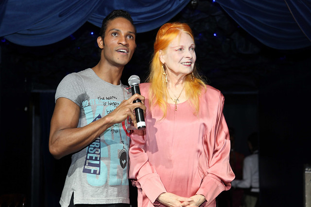 Fernando Montaño and Vivienne Westwood at the Latin-UK Awards.  © Ric Pereira 2013