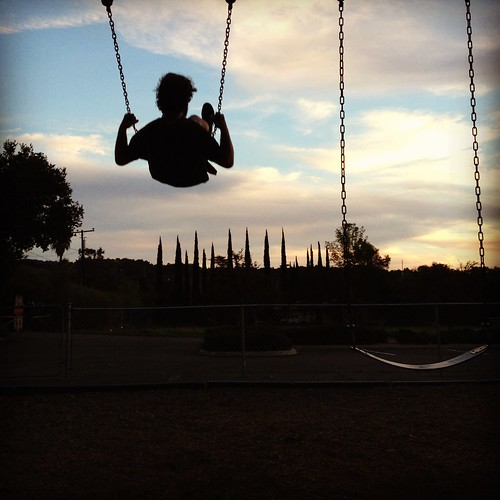 Jonathan swinging into the sunset