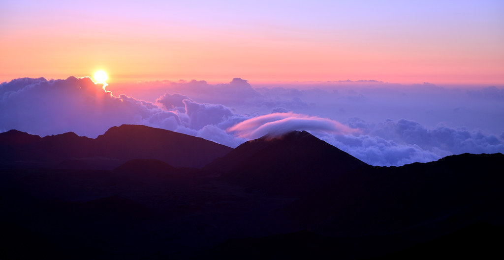 Sunrise at Haleakala National Park, Maui 2013