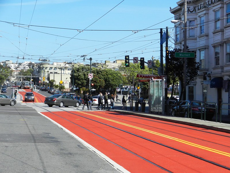 Eyes on the Street: At Last, Red Transit Lanes on Church | Streetsblog San Francisco