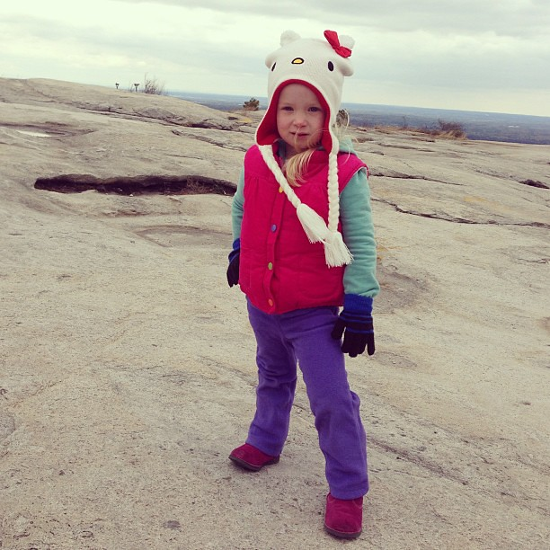 Not a fan of the cold. #stonemountain #powellsbroadtrip
