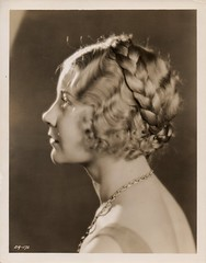 "Una Merkel, costume/hair test for the film, ""Command Performance"" (1931)."