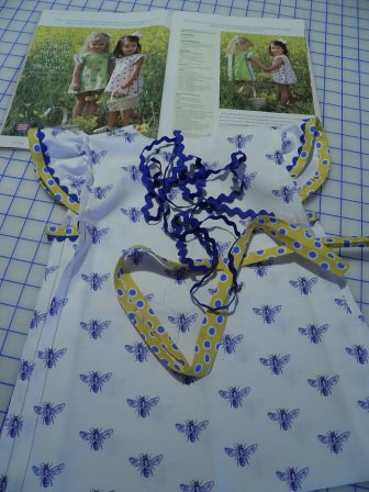 Blue Bee Dress started