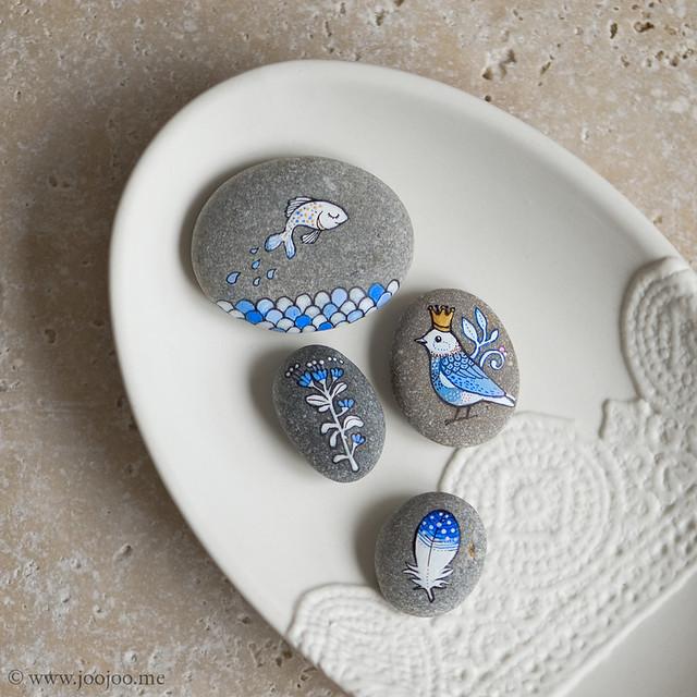 Cobalt blue pebbles