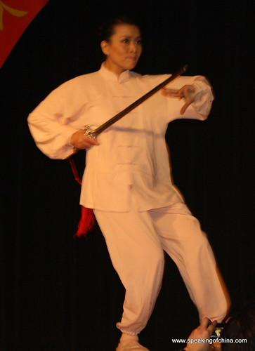 A taiji sword demonstration