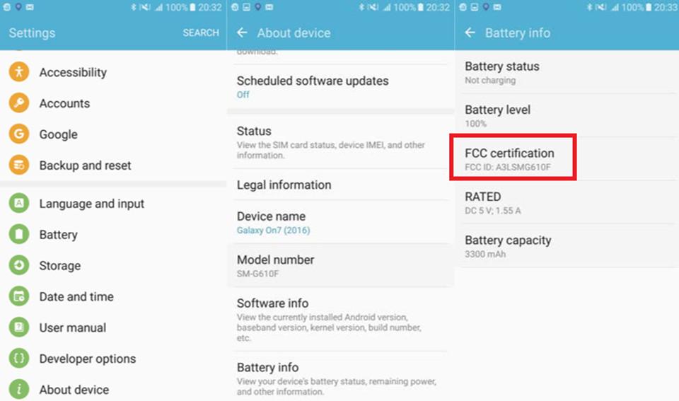 Samsung Galaxy On7 (2016) được chứng nhận bởi FCC