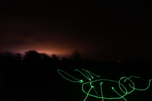 Essais de light painting