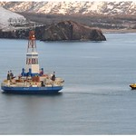 Towing of Kulluk to safe harbor in Kiliuda Bay
